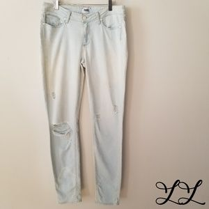 Paige Jeans Verdugo Skinny Light Wash Ripped White